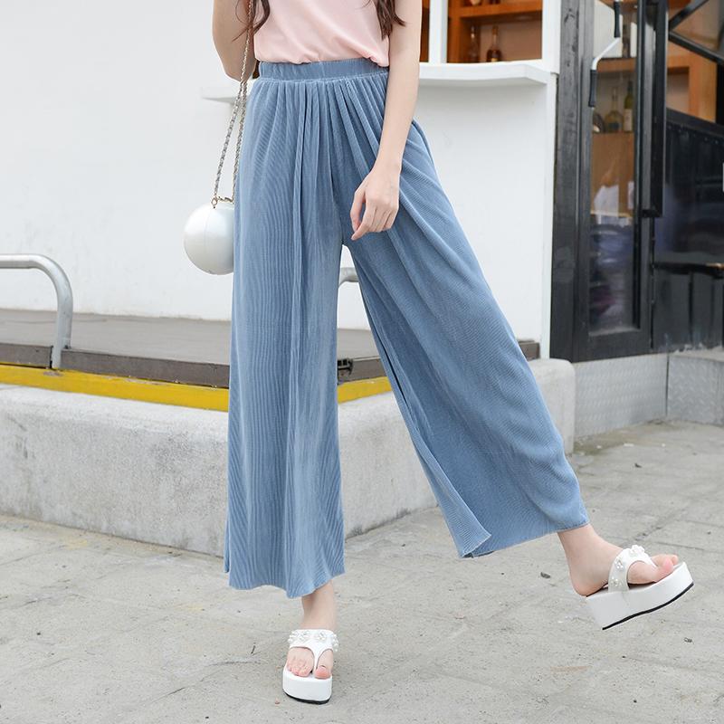 New Summer Women Elastic Waist Harem Pants Casual Bloomers Loose Trousers summer beach Wide Leg Pants Plus Size(China (Mainland))
