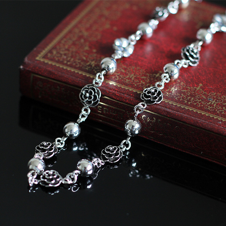 Характер женская Нежный Handmade Silver MS Осень Персик Колокол Браслеты