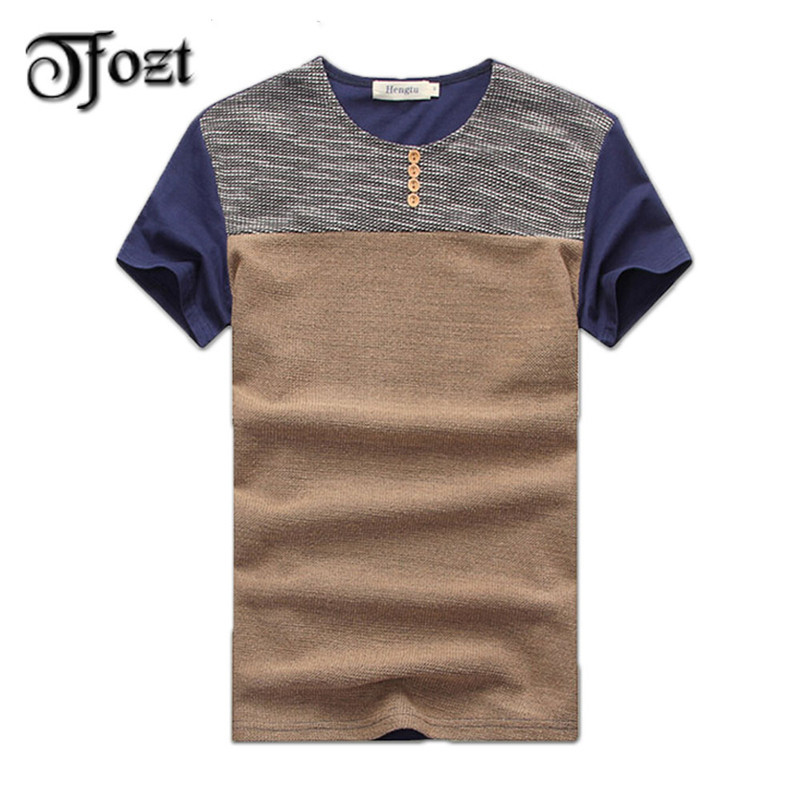 Hot sale fashion short sleeve splice t shirt summer casual for Atm t shirt sale