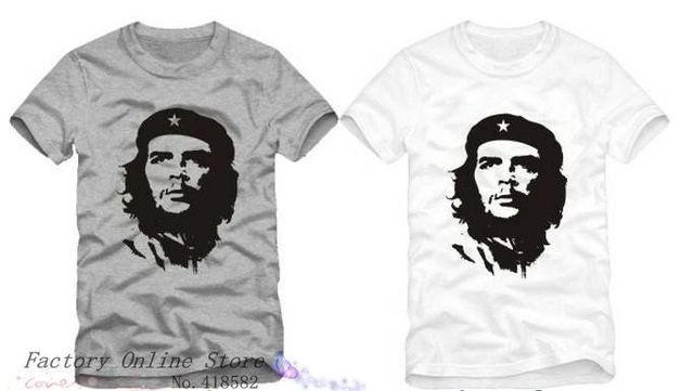 New che guevara great head portrait Short sleeve  cotton wacky kuso T-shirt tide  Free Shipping 6colors NWT003