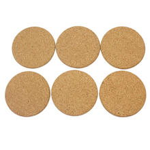 6pcs/Lot Heat Resistant Wood Round Shape Cork Coaster Tea Drink Wine Coffee Cup Mat Pad Table Decor(China (Mainland))