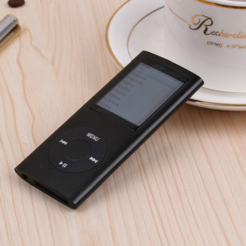 popular black 8GB Multi-lingual Selection 1.8 LCD Portable MP3 Player Video Music free ship not for ipod nano 4(China (Mainland))