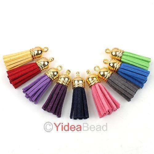 New Fashion 200pcs Charms Colorful Tassel Braid Cotton Rope Pendants Fit DIY Pendant 130250