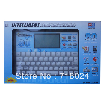 80 Functions English & French Learning Machine Computer for Kids Children Educational Toy machine Music+Lcd