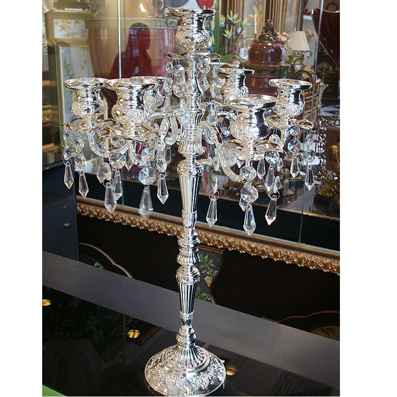 modern candlesticks 3 arm candelabra white metal lantern wedding candelabra metal candle holder for home decoration(China (Mainland))