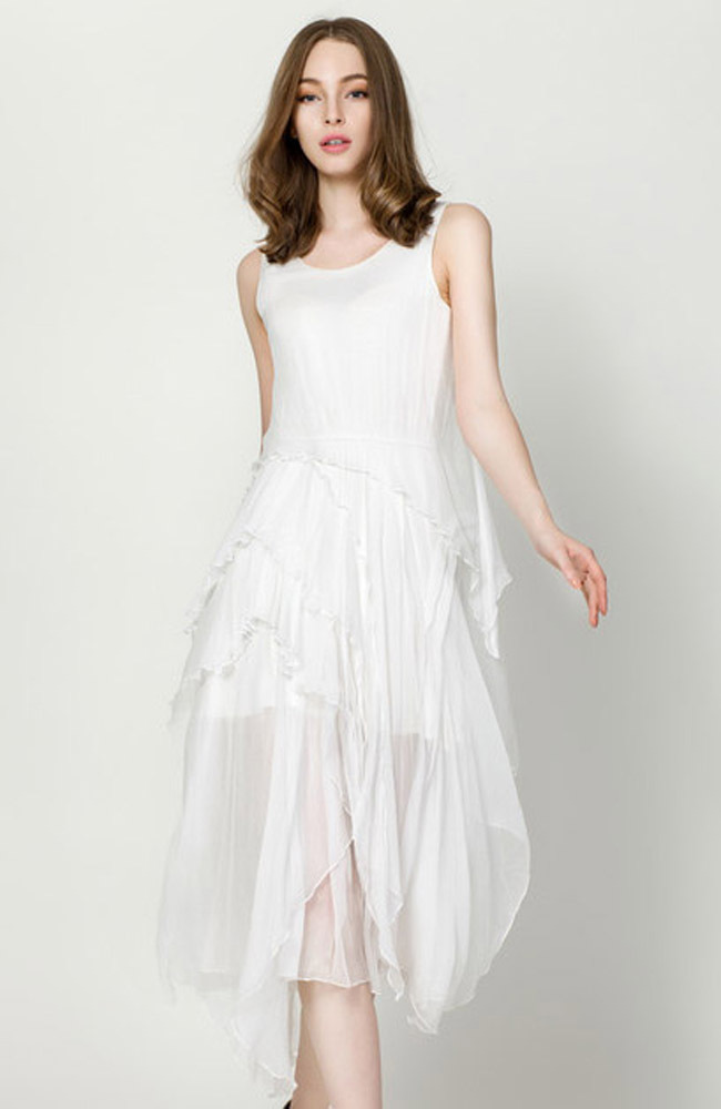 Summer Dress Fashion Design Euopean And American Style Lady Clothing High Quality O Neck Layer