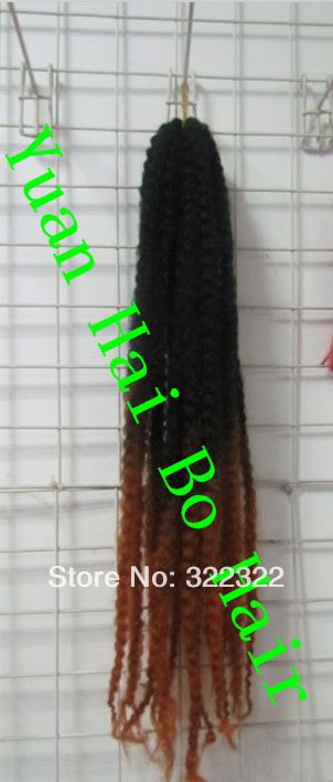new fashion top quality 1bT30 two tone ombre color kinky twist synthetic marley braid hair extensions free shipping<br><br>Aliexpress