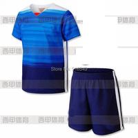 10 set /lot EMS DHL shipping 2015-2016 USA Soccer Jerseys Blue soccer uniform kits 16 USA Soccer Jerseys sport trasuit +short