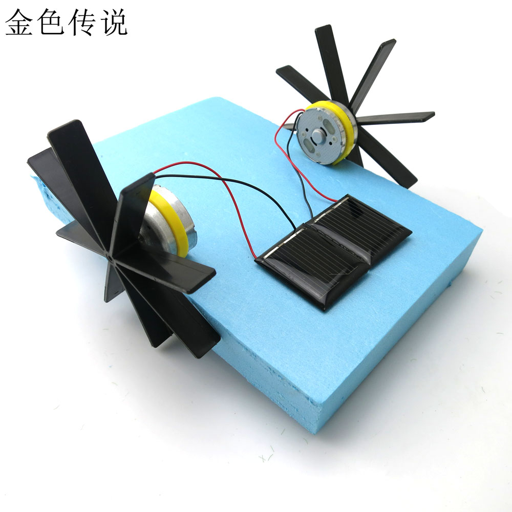 F17923 Puzzle DIY Solar Powered Boat Rowing Assembling Toys for Children Educational Toys 15*13*8cm Model Robot(China (Mainland))