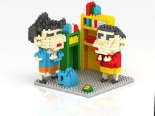 LOZ 9465 Japanese Anime Crayon Shin Chan & Kazama Diamond Brick Minifigures Building Block Minifigure Toys For Gift