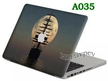 Sailing Boat Top PVC Decal Laptop Cartoon Pattern Sticker Cover Skin For Macbook Air /Pro / Retina / NewMac 11 13 15 12(China (Mainland))