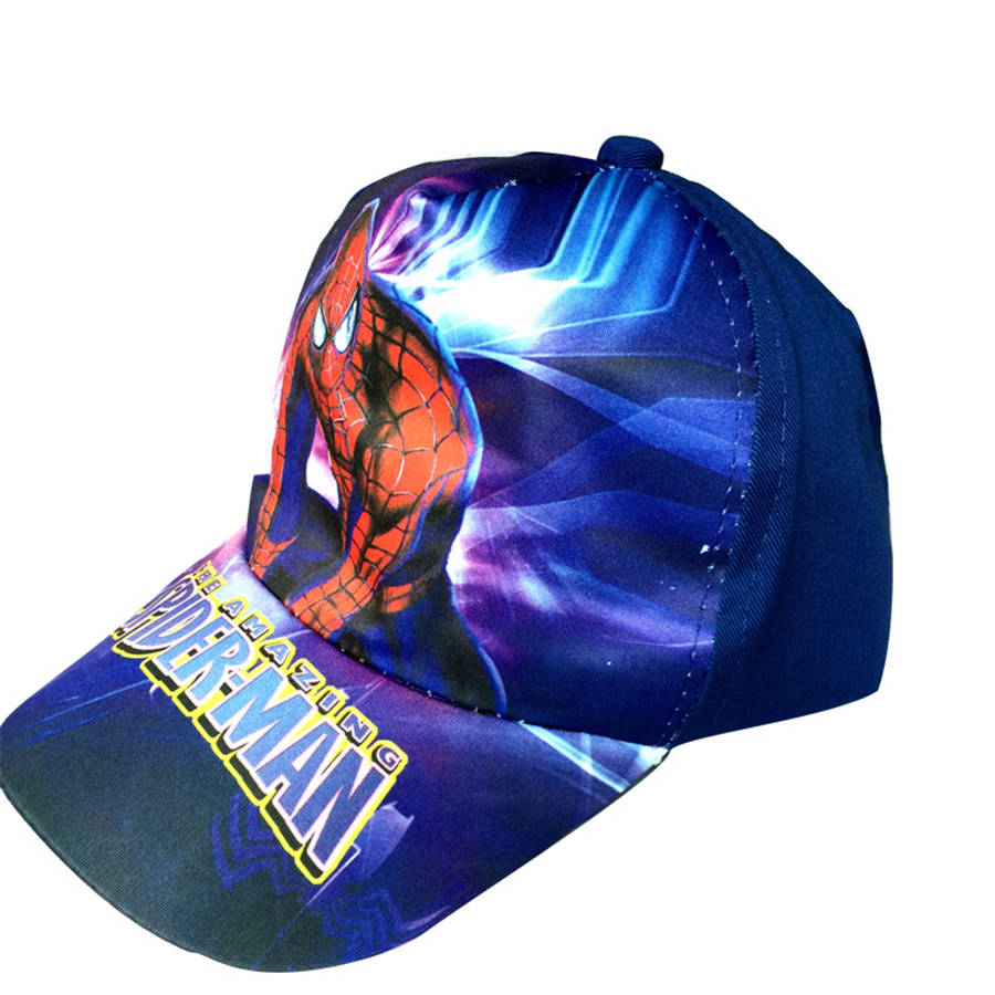 2016 Hot Girls Baby Kids Baseball Hat Cartoon SpiderMan Brand High Quality Children Snapback Hat 8 Colors Hip-Hop Summer Sports(China (Mainland))