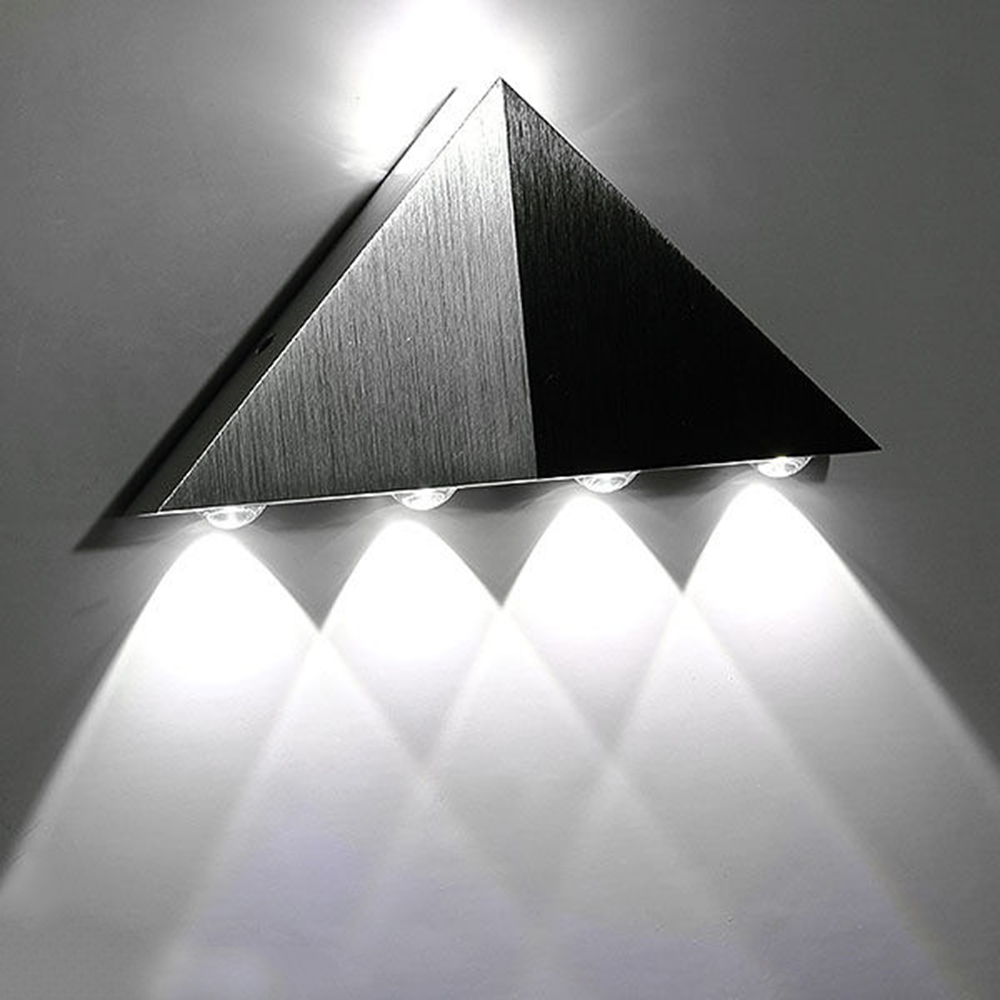 Cool White Triangle Led Wall Light Lamp 5w Aluminum Modern
