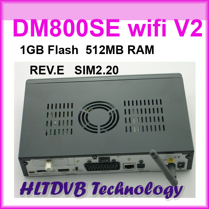 5pc/lot Newest Satellite tv Receiver DM800SE V2 wifi, dm 800hd se v2 Decoder 1GB Flash 521MB RAM sim2.2 REV.E Free Shipping(China (Mainland))