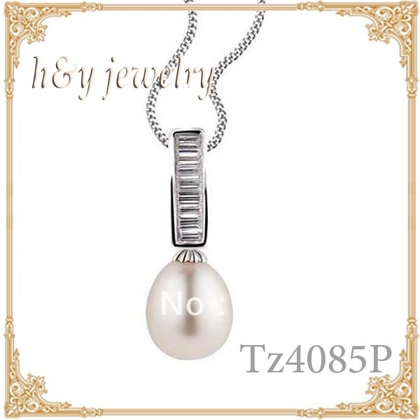 silver necklace pendant with aaa pearls ,promotion period buy pendant give pure silver box chains free,TZ4085P(China (Mainland))