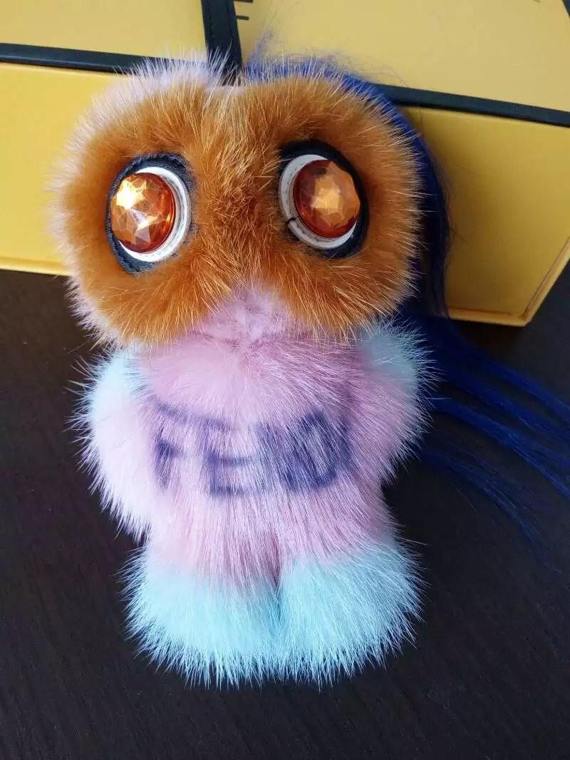 Фотография 2016 new car decoration pendant genuine fur monster keychain solid Mink Pom Pom  key ring bag key chain