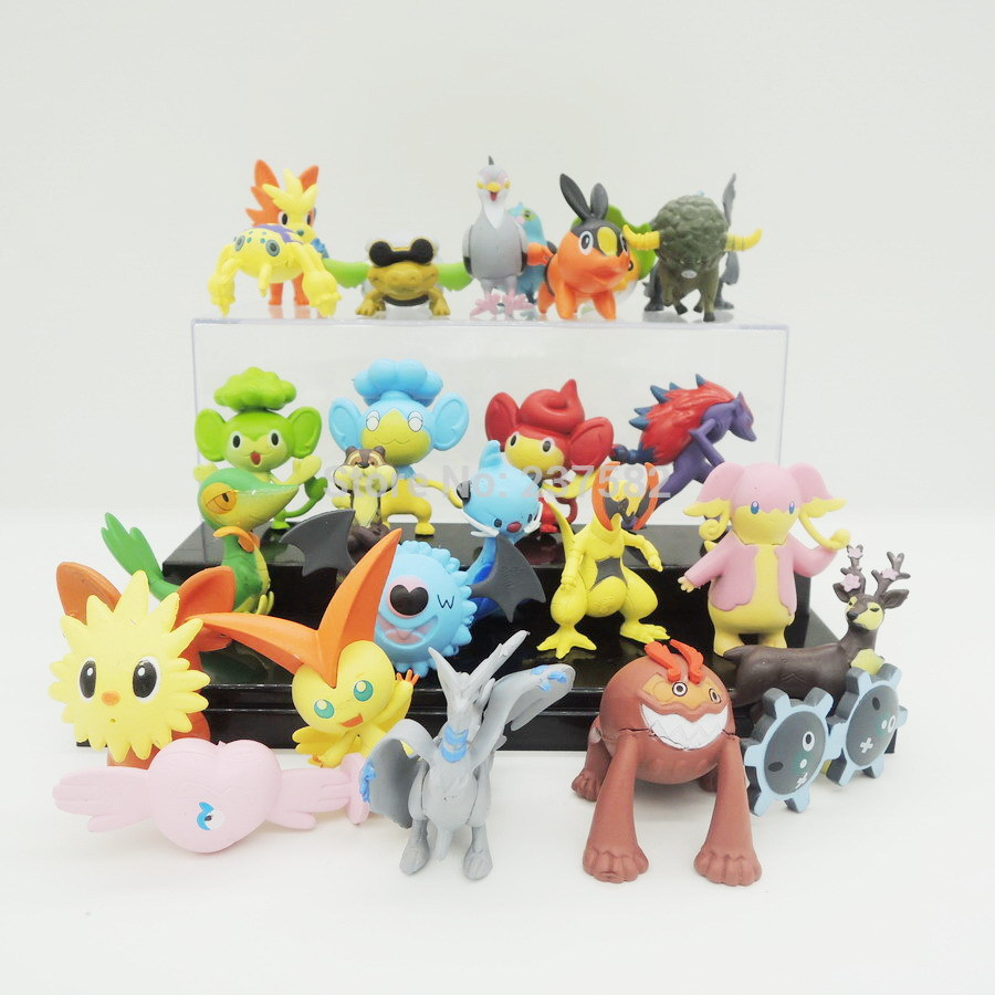 New 24pcs/lot PVC 5cm Cute pokemon games Pikachu action figures anime collection toy christmas gift childrens party decoration(China (Mainland))