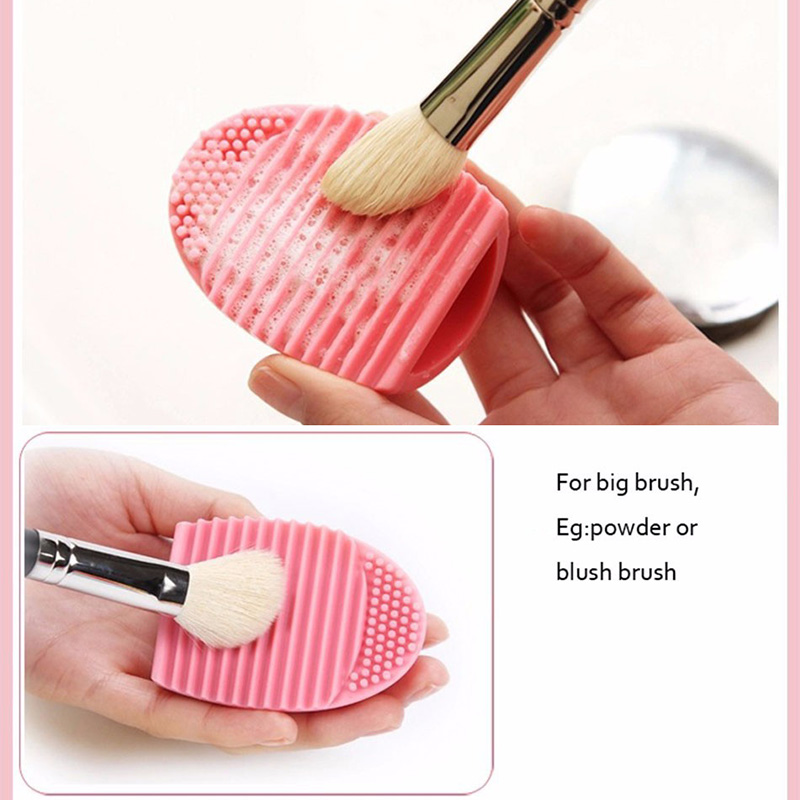 Cosmetic Brush Cleaning Tools Egg Makeup Brushes Washing Tool Foundation Powder Seiketsu Outil Silicone Glove Scrubber Cleaner(China (Mainland))
