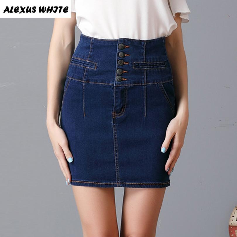 White Denim Mini Skirt Promotion-Online Shopping for Promotional ...