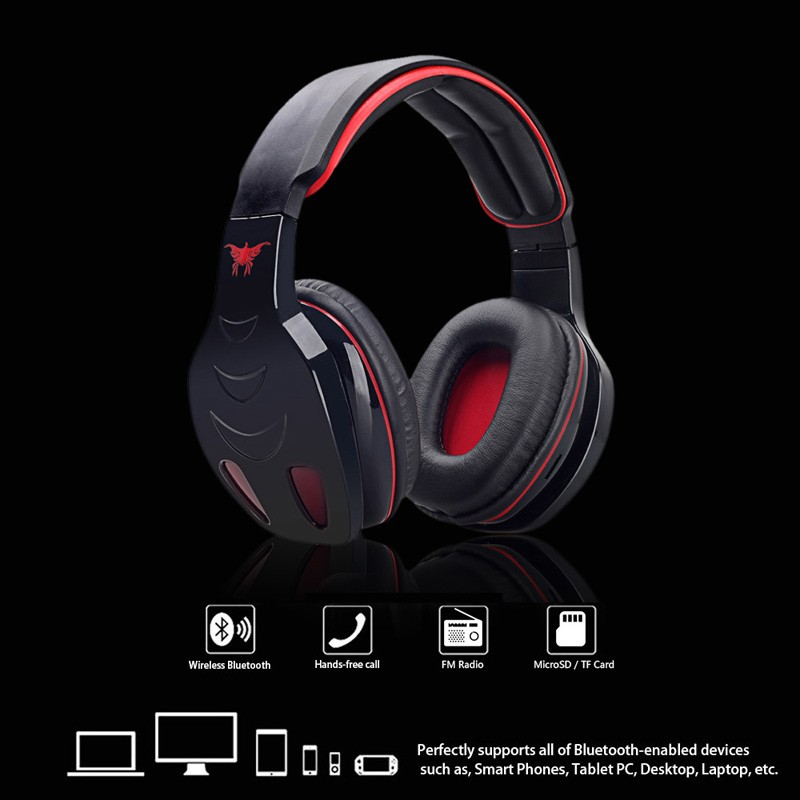 10PCS STN-08 Wireless Bluetooth Stereo Noise canceling Headphone Bass Headset with Mic FM MP3 EQ TF Slot for iPhone Samsung PC<br>