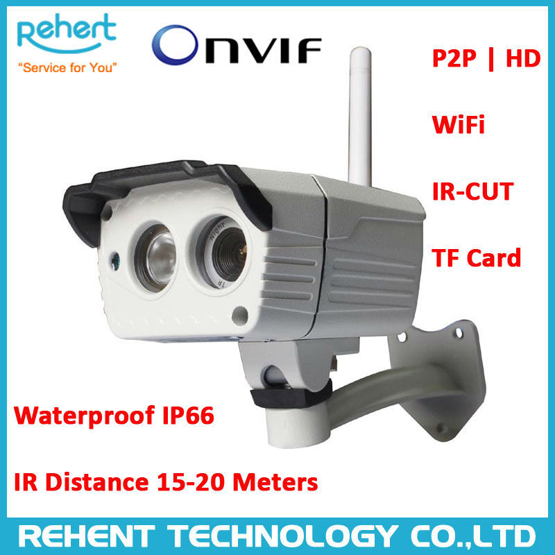 720P Bullet Outdoor Wifi P2P Megapixel IP Camera support ONVIF2.0 Built-in IR-CUT Support TF Card to 32G NEO Coolcam with NVR(China (Mainland))