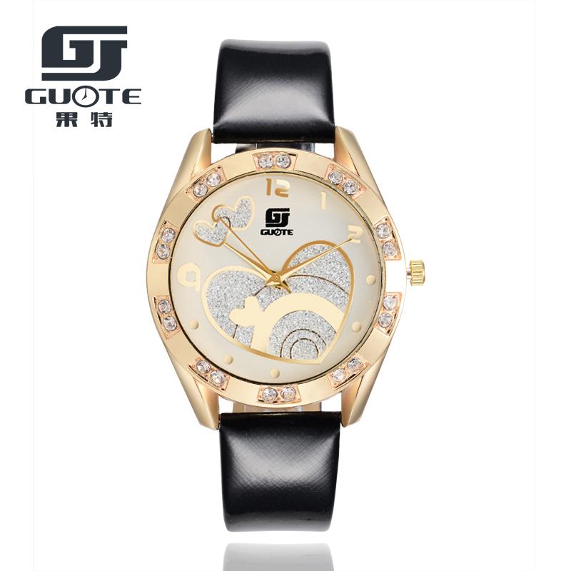 2016 Fashion Quartz Watch Women Leather Wrist Watches Ladies Wristwatch Girls quartz-watch Female Clock Relogio Feminino(China (Mainland))
