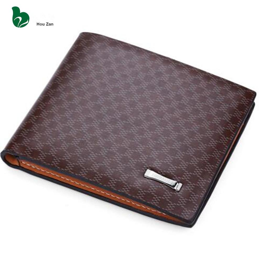 mens designer wallet brands ztyv  Luxury Small Card Holder PU + Genuine Leather Men Wallets Purse Male Bag  2015 Famous Brand