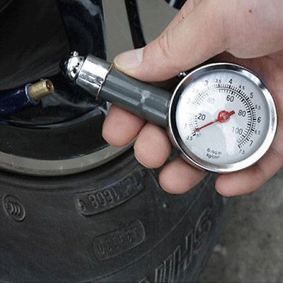1pcs New Car Vehicle Motorcycle Dial Tire Gauge Meter Pressure Tyre Measurement Tool To save gas(China (Mainland))