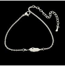 Klasyczne długie pióro bransoletka kobiety biżuteria w stylu Vintage srebrny złoty kolor natura garnek liść winorośli bransoletka koreański styl prezent urodzinowy(China)