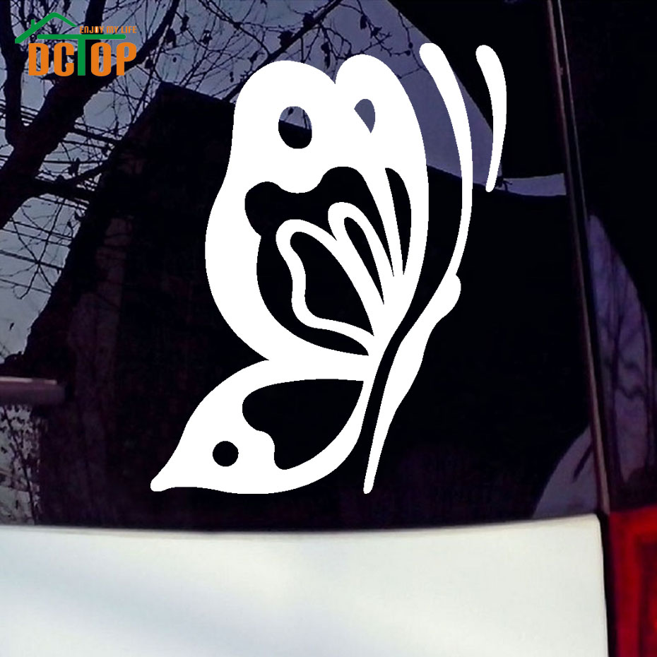 Simple car sticker design - Art Design Of Butterfly Car Stickers Pvc Adhesive Waterproof Car Decals Insect Car Styling Sticker For