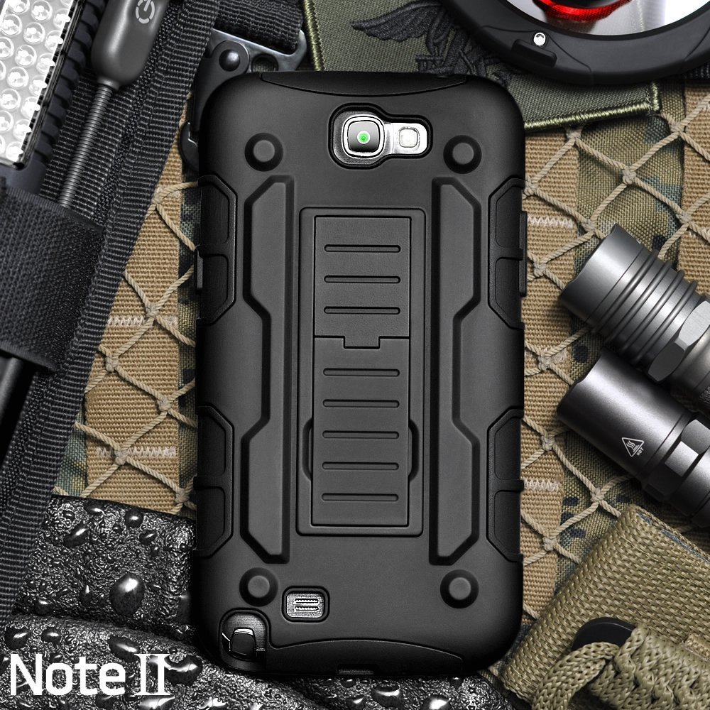Note 2 Case Luxury 2 in 1 Shockproof Heavy Duty Hybrid Rugged Impact Belt Clip Holster Hard Case For Samsung Galaxy Note 2 N7100(China (Mainland))