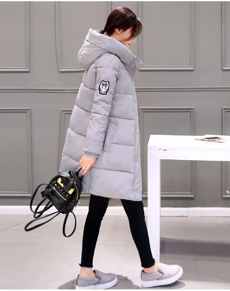 Скидки на Женская мода утолщение хлопка-ватник хлопка мягкой одежды воспитать в себе мораль в зимой, чтобы согреться теплое пальто
