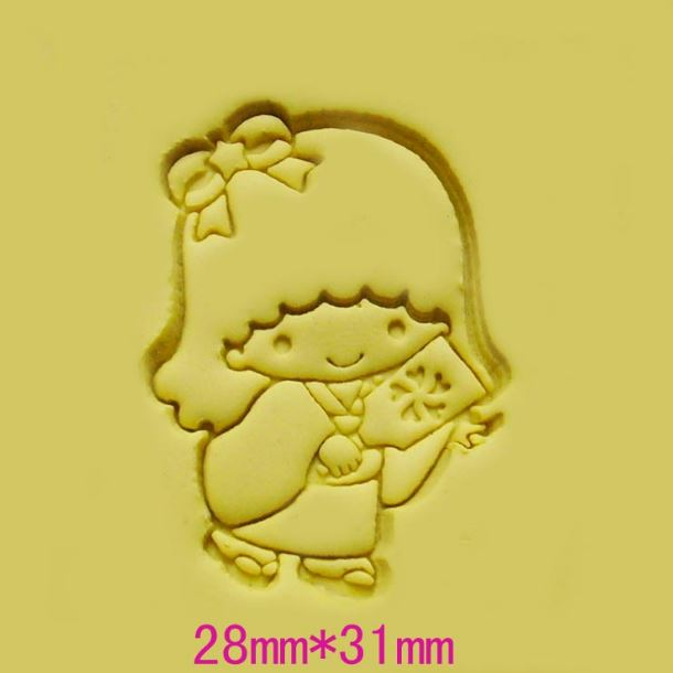 Hot sale DIY resin chapte Kawaii beautiful little girl DIY handmade Resin soap seal stamp mold chapter mini diy patterns(China (Mainland))