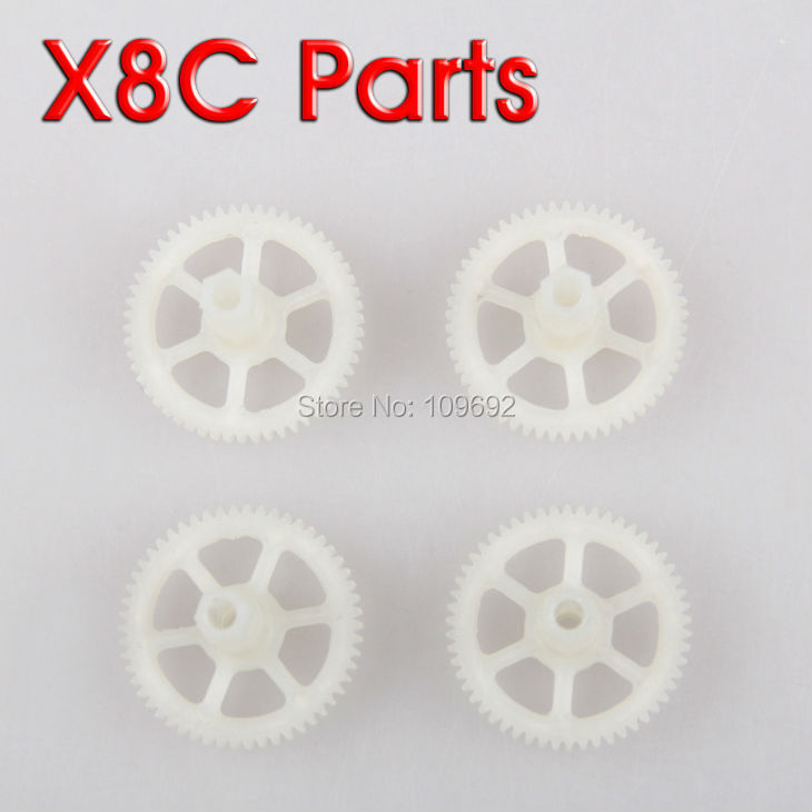 Free shipping 4pcs Gear for Syma X8C 6Axis 4CH 2.4G RC UFO Quadcopter Spare Omament Parts Replacements Accessories X8C-09