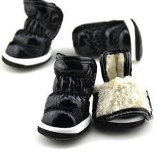 2018 Kat Tasarım Kış Köpek Ayakkabı Deri köpek ayakkabıları Sıcak moda ürünü Soğuk Rahat Cilt dostu Pet köpek çizmeleri(China)