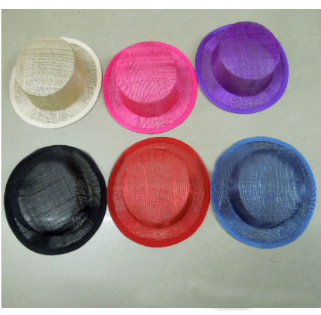 Multiple Color for Select 17CM ROUND SINAMAY Millinery Fascinator Hat Base Great for Making Fascinators/Party Hats 12pcs/lot(China (Mainland))