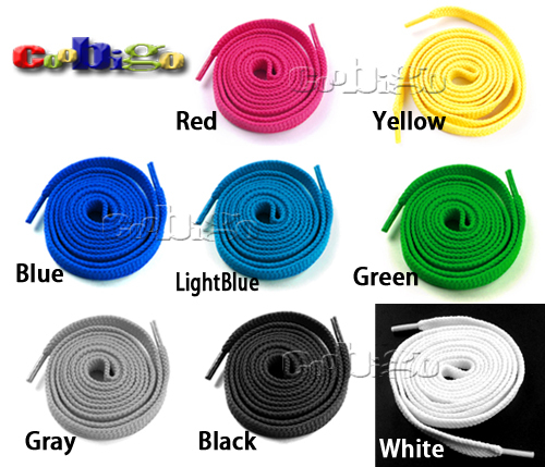 1set/pack Plain Flat Shoe Laces For Causal Sneakers Boots Shoes String 120cm Length #S0037(China (Mainland))