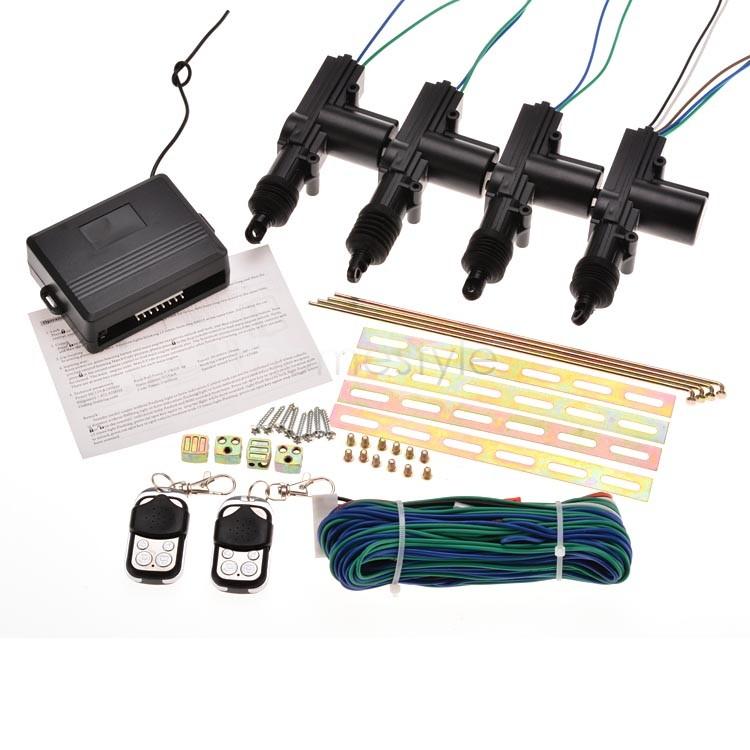 US Shipping Waterproof 4 Car Door Remote Power Control Central Keyless Alarm Security Locking kit US25(China (Mainland))
