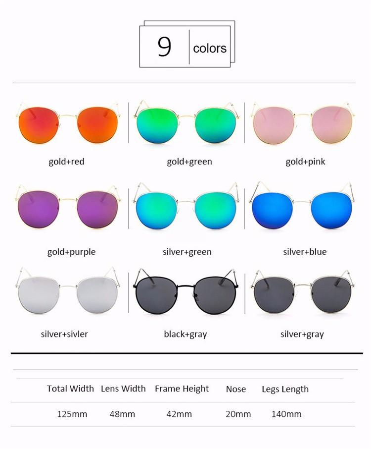 Luxury Vintage Round Sunglasses Women Brand Designer Female Sunglass Points Sun Glasses For Women Lady Sunglass Mirror 2017 Rays (4)