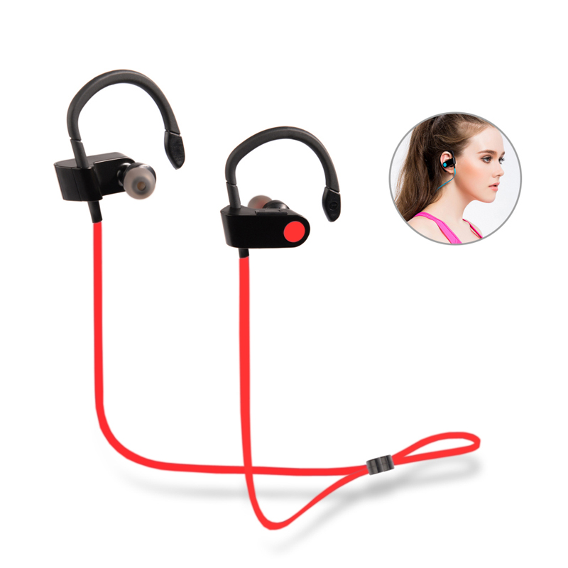 bluetooth headset v8 sports running headphones hifi stereo wireless earphones with handsfree for. Black Bedroom Furniture Sets. Home Design Ideas