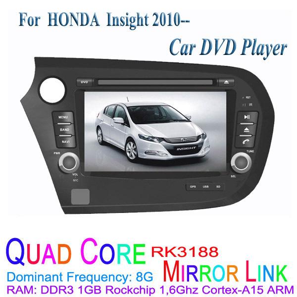 1024*600 Quad Core Android 4.4.4 Fit HONDA Insight 2010 2011 2012 2013 2014 2015 Car DVD Player GPS TV 3G Radio(China (Mainland))