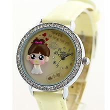 2015 Mini palabra de cuarzo DIY 3D del corazón chica arcilla del polímero relojes mujeres relojes vestido de la muchacha Brithday regalo del Festival MN623