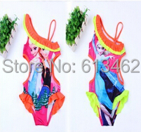 2014 hot swimwear/Princess Elsa&Anna one piece girls swimsuit/Colorful children swimming clothes - BABY&KIDS STORE store