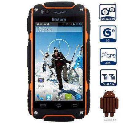 "Original 4"" Discovery V8 Android 4.4.2 MTK6572 Dual Core 3G WCDMA GPS Smartphone Dustproof Shockproof 3G WIFI Dual camera V5(China (Mainland))"