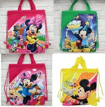 20pcs Factory sale Cartoon Mickey minnie Drawstring Backpack School Bags Party  bag 35*27 cm Non Woven Fabric 8 design KB15(China (Mainland))