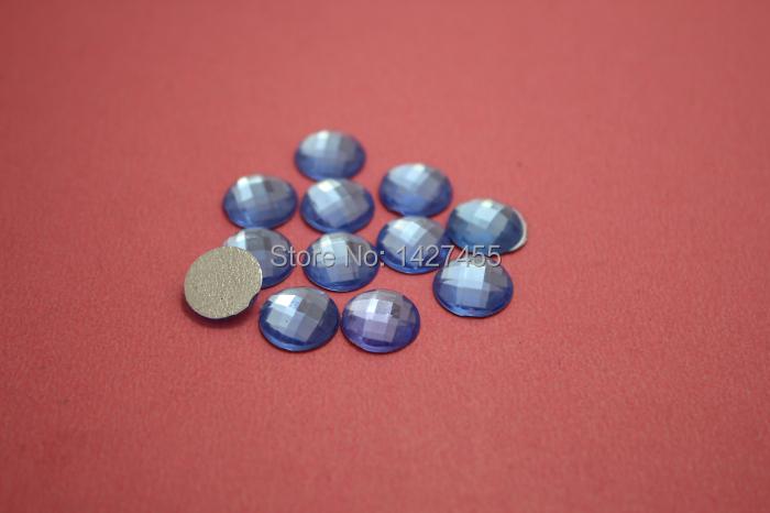 wholesale 300pcs/10mm lavender flat back High Quality round Acrylic rhinestone for DIY decoration(China (Mainland))