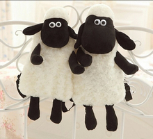 1pcs 40cm*27cm Selling Bag Plush Backpack cartoon Sean Sheep Knapsack , Backpack For Kids Low Price Kawaii Toy Free Shipping(China (Mainland))