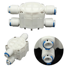 2Pcs High quality 4 Way 1/4 Port Auto Shut Off Valve For RO Reverse Osmosis Water Filter System