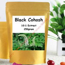 250g(8.8oz)Nature Black Cohosh 10:1 Extract Powder Womens Natural Hormonal Balance Support Supplement free shipping(China (Mainland))