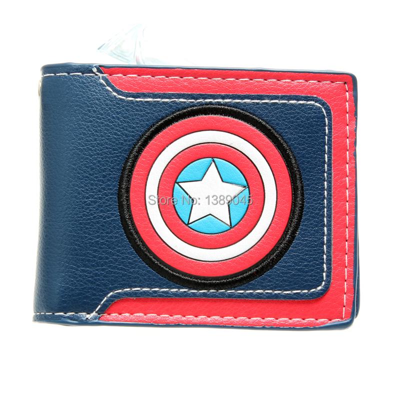 "Captain America wallet Steve Rogers James Buchanan Barnes ""Bucky"" Young students wallet purse animated cartoon wallet DFT-1182(China (Mainland))"